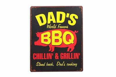 bbq spreuken Tekstbord: Dad's world famous BBQ EM4676   sfeerbijhomesweethome bbq spreuken