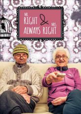 Wenskaart Mr.right & mrs. always right Bowie H