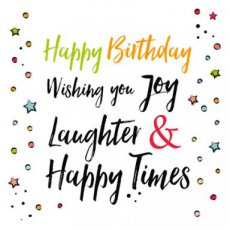 Wenskaart Happy birthday Joy