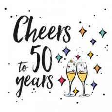 Wenskaart Cheers tot 50 years Joy
