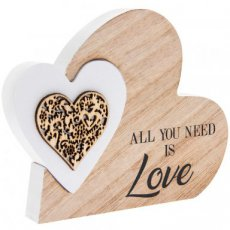 Houten hart All you need is love