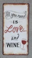 Magneet: All you need is love and wine. EM4988