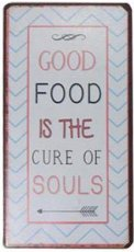 Magneet: Good food is the cure of souls. EM4717