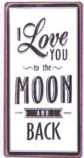 Magneet: I love you to the moon and back. EM5597