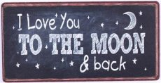 Magneet: I love you to the moon & back. EM5661
