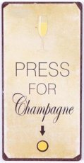 Magneet: Press for champagne. EM6308