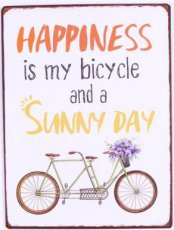 Tekstbord: Happiness is my bicycle and... EM5918