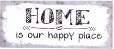 Tekstbord: Home is our happy place. EM5376