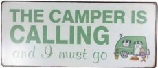 Tekstbord: The camper is calling and ... EM5098