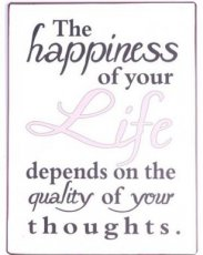Tekstbord: The happiness of your life... EM5511